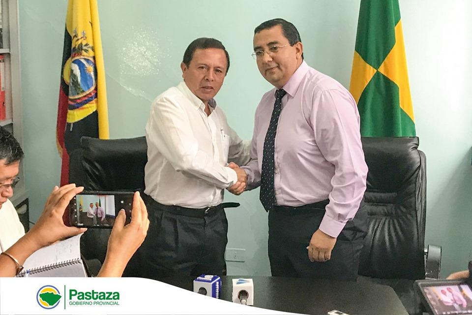 Jaime Guevara, Prefecto Provincial, realizó una visita protocolaria al Ing. Oswaldo Zúñiga, Alcalde del cantón Pastaza