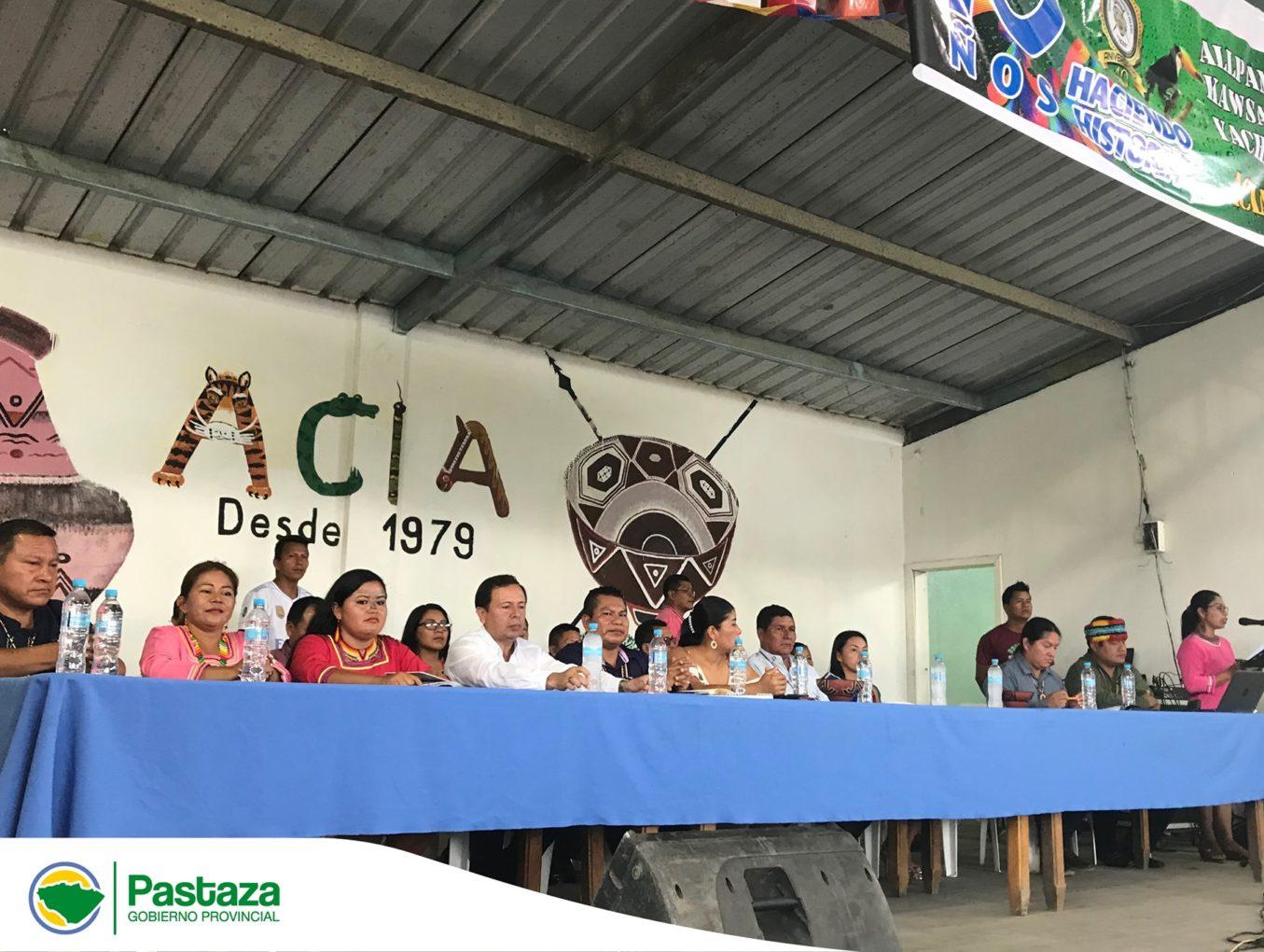 Prefecto Provincial participó de la reunión conmemorativa por el Cuadragésimo Aniversario de la Asociación de Comunidades Indígenas de Arajuno ACIA