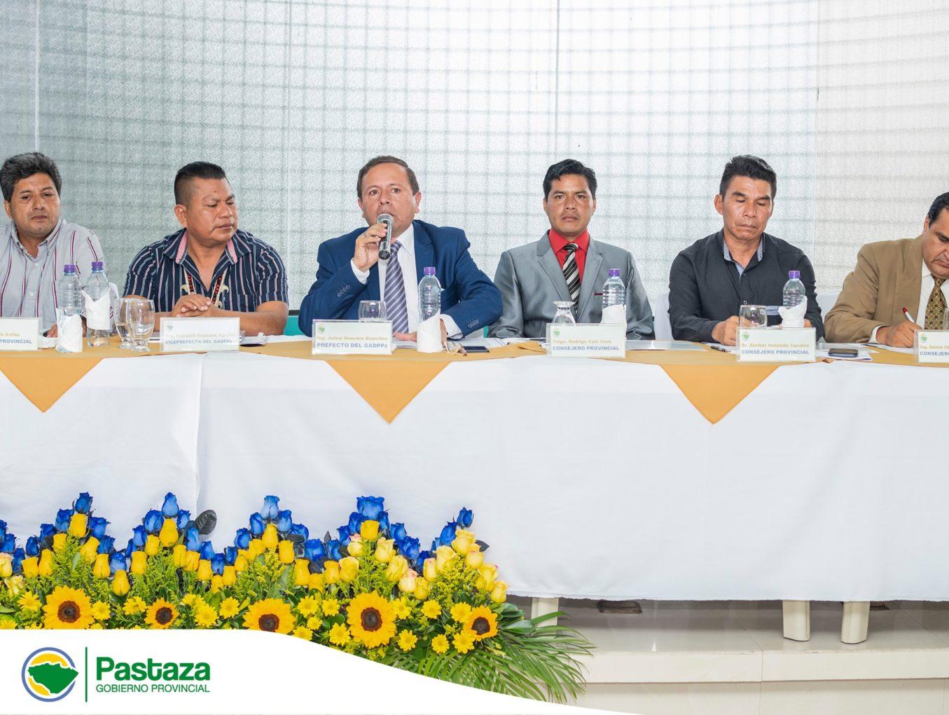 Sesión Inaugural Constitutiva del Concejo Provincial de Pastaza