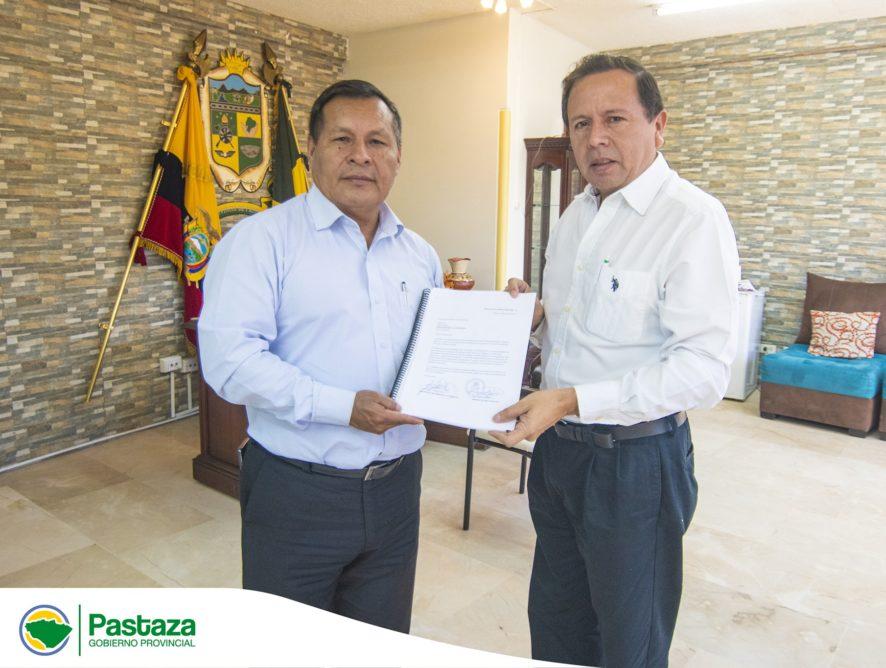 Reunión de trabajo entre Prefecto Provincial de Pastaza y de Morona Santiago