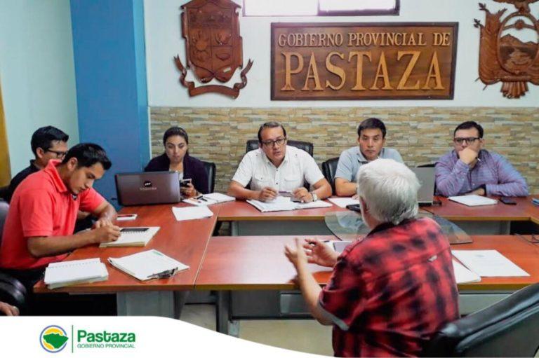 Mesa de trabajo entre el GADPPz, Ministerio del Ambiente y GIZ Ecuador