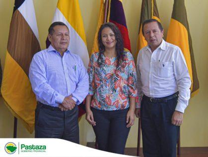 Prefectos de Pastaza, Orellana y  Morona Santiago mantuvieron una reunión en la sede del CONGA en la ciudad de Puyo