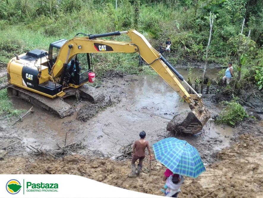 El GADPPz trabaja en la implementando sistemas de drenajes en suelos anegado