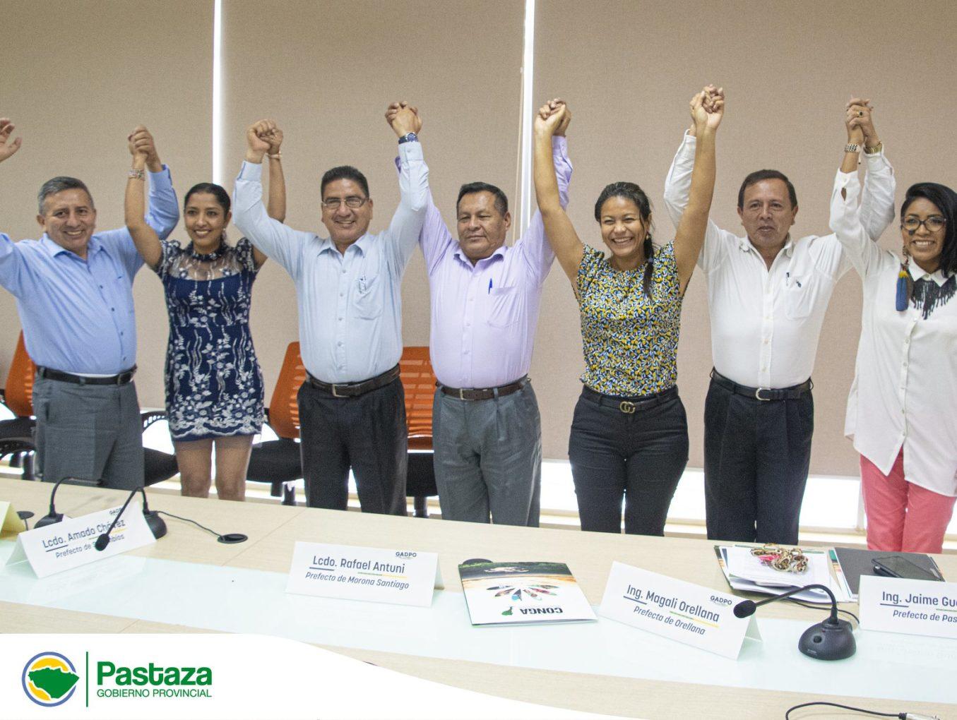 El Prefecto de la provincia de Pastaza Jaime Guevara, participó en la elección del Presidente del CONGA.