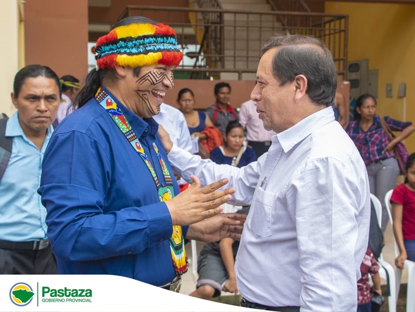 Jaime Guevara Prefecto Provincial participó de la posesión del nuevo presidente de la Nacionalidad Achuar de Ecuador (NAE), Tiyua Napoleón Uyunkar