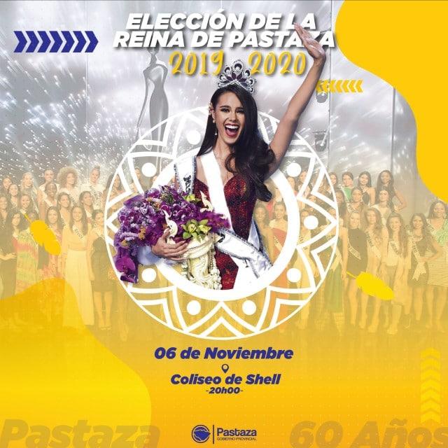 Noche de la Elección y Coronación de la Reina Provincial de Pastaza 2019.