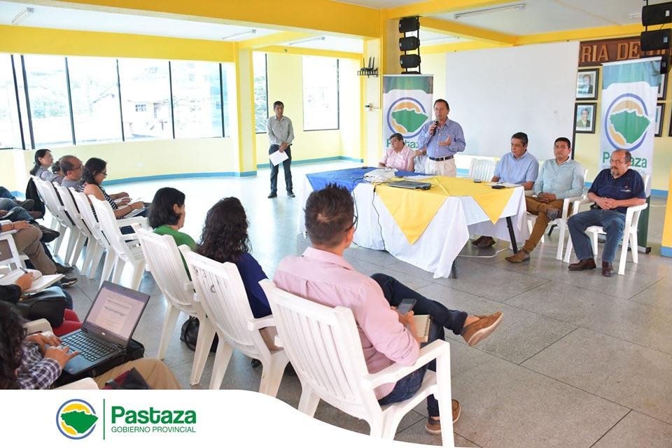 Se realizó la mesa técnica de articulación territorial provincial de Pastaza.