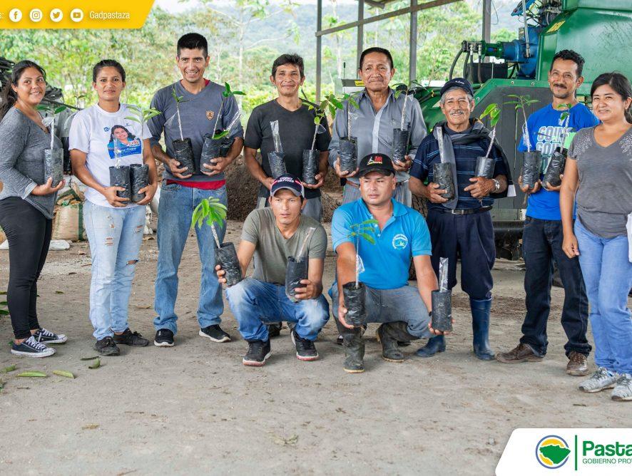 Capacitaron a varios emprendedores ganaderos de la parroquia El Triunfo en el injerto y manejo de plantas de Guanábana.