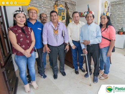 Visita de los representantes de la Nacionalidad Waorani de nuestra provincia.