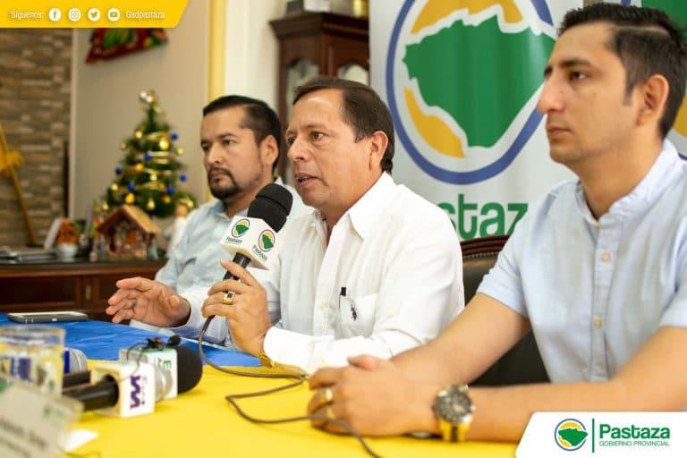 Rueda de Prensa presidida por el Ing. Jaime Guevara.