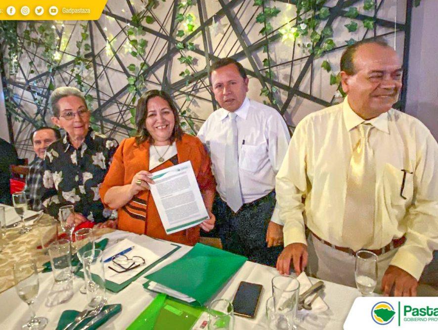 Firma un importante convenio de cooperación interinstitucional entre el Gobierno Autónomo Descentralizado Provincial de Pastaza y la Fundación Ecológica Hola Vida.