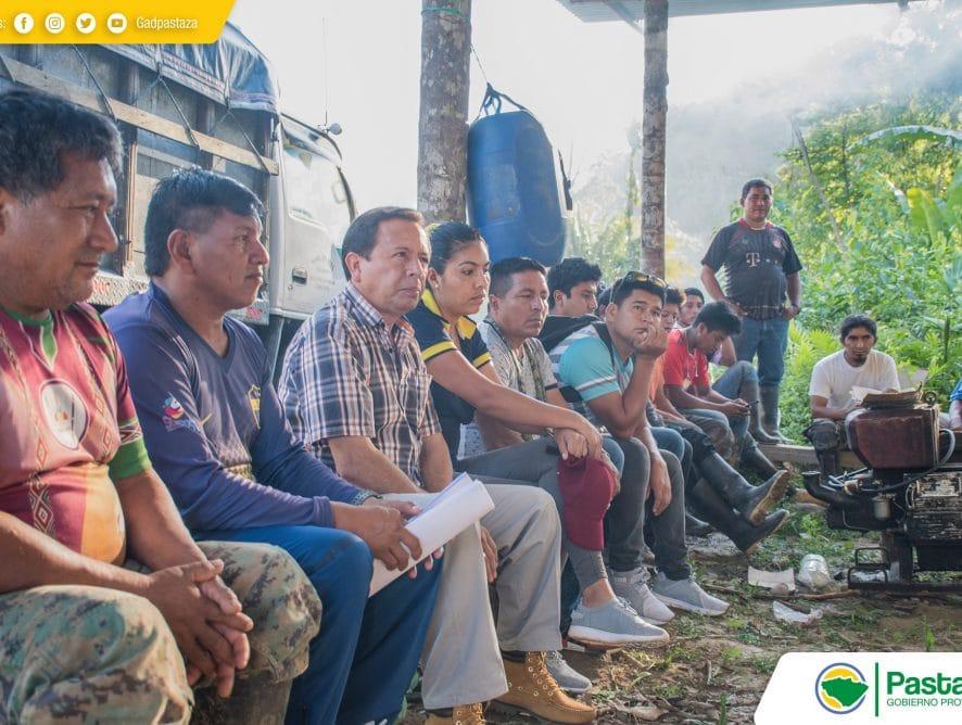 Reunión de trabajo con los moradores de las comunidades 28 de Enero y San Eusebio.