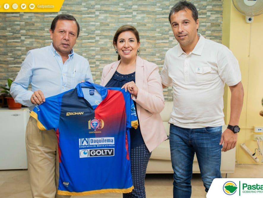 Visita de Mayra Arguello, Presidenta del Club Centro Deportivo Olmedo.