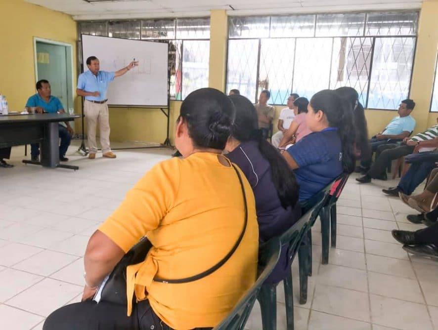 El Prefecto de Pastaza, Jaime Guevara, cumplió una agenda importante en el cantón Arajuno.