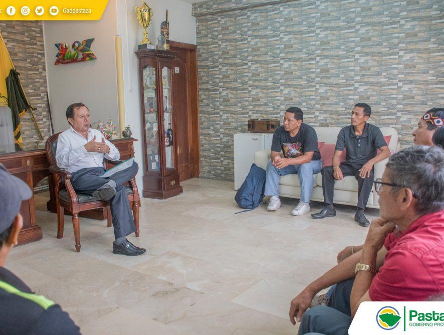Reunión de trabajo con representantes de la Asociación IKIAM - Arajuno.