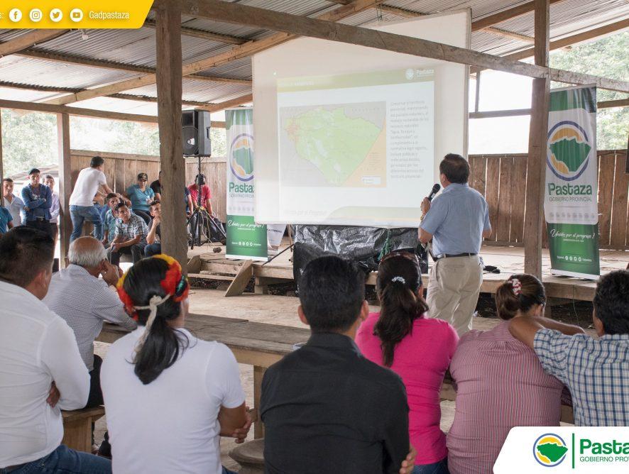 """Socialización de el """"Proyecto Estratégico Multimodal Binacional Ecuador - Perú"""" eje multimodal 3 Puyo - Chuwitayo - Copataza Perú."""