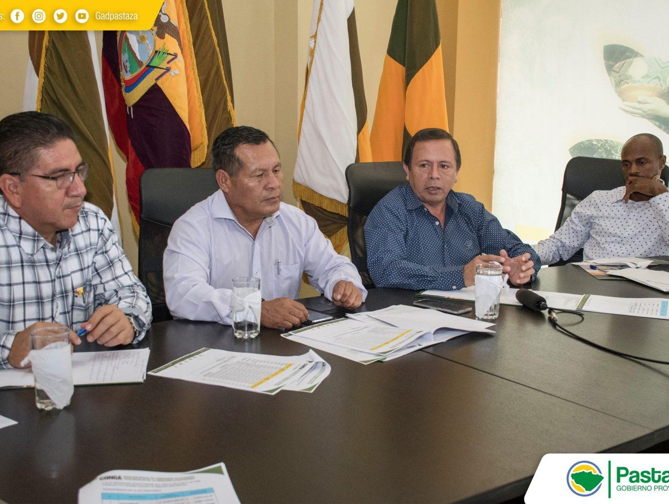 Reunión de la Mancomunidad de Gobiernos Autónomos Provinciales de la Región Amazónica del Ecuador (CONGA).