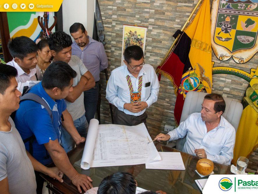 Comunidad Kumay visitó al Prefecto de Pastaza.