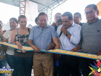 Prefecto de Pastaza, Jaime Guevara, hizo la entrega de 7.25 kilómetros de asfaltado del camino vecinal Tarqui-San Jacinto-Los Ángeles.