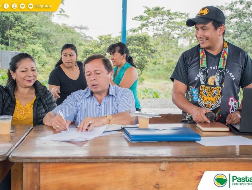 Reunión de trabajo con los moradores de la comunidad San Pablo de Alishungo.