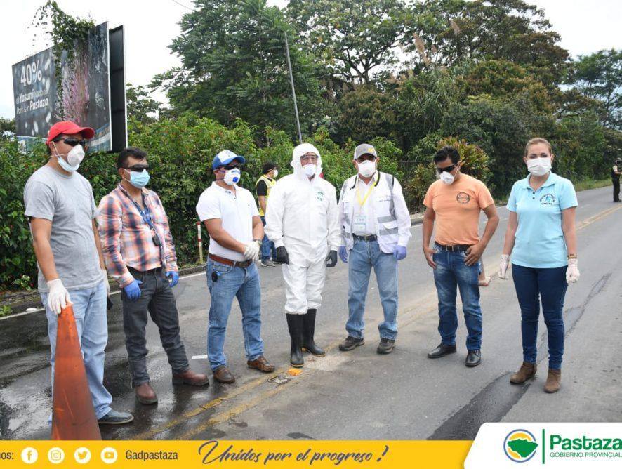 Jaime Guevara, realizó la verificación del trabajo de desinfección vehicular.