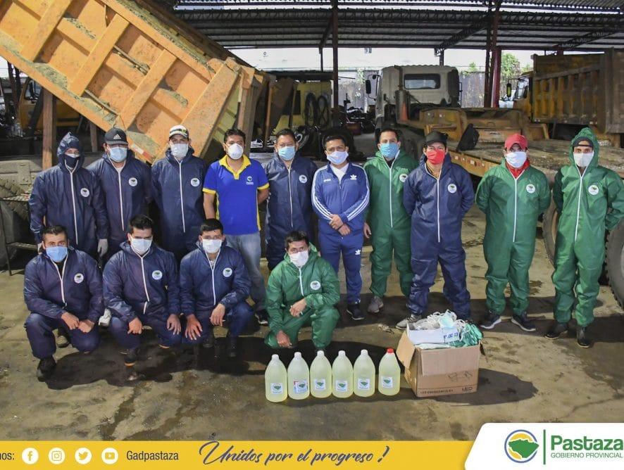 El Gobierno Provincial de Pastaza, entregó equipamiento de bioseguridad al personal.