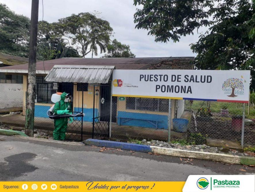 Desinfección en la parroquia Pomona.