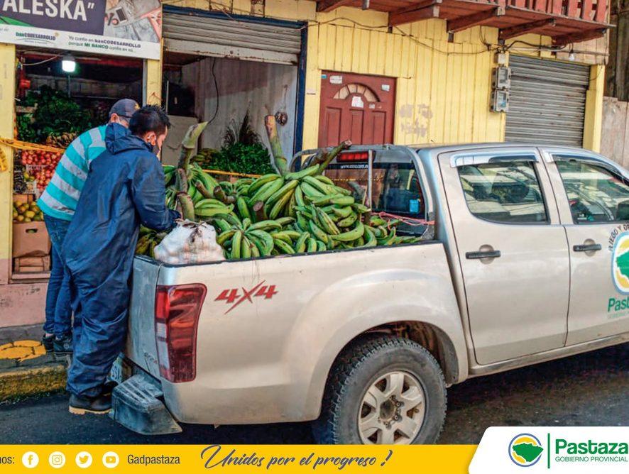 El GADPPz, continúa apoyando al productor campesino en la comercialización de sus productos.