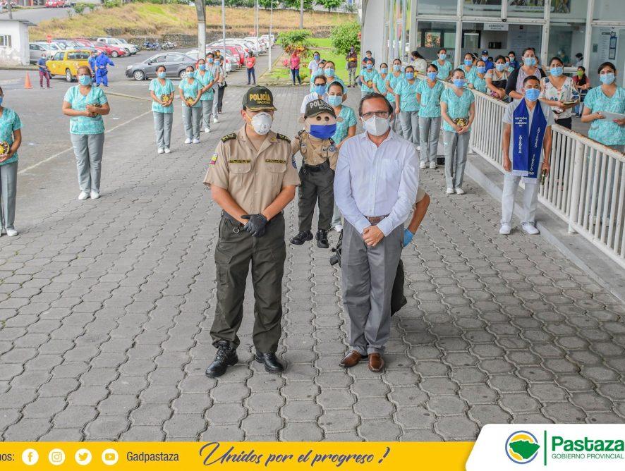 La Prefectura de Pastaza y Policía Nacional Subzona Pastaza homenajearon a Enfermeras en su Día Internacional