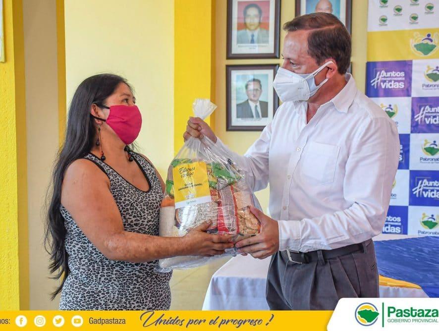 Iniciamos entrega de kits alimenticios del convenio Prefectura de Pastaza - Ministerio Inclusión Económica Social Ecuador Pastaza.