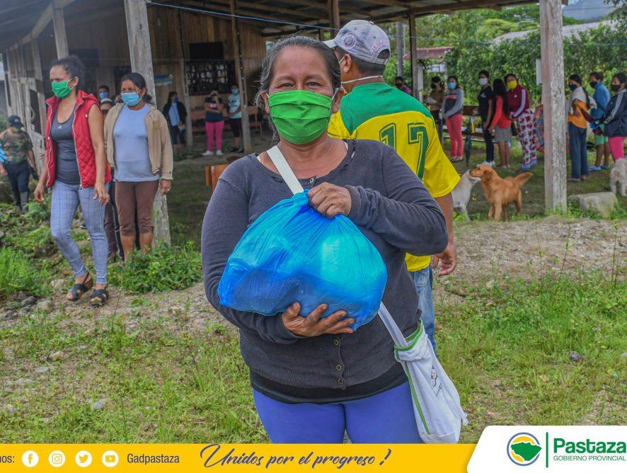 Sectores vulnerables de Shell reciben kits alimenticios.