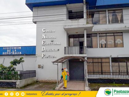 Desinfección de la infraestructura interna y externa del Consejo Nacional Electoral.