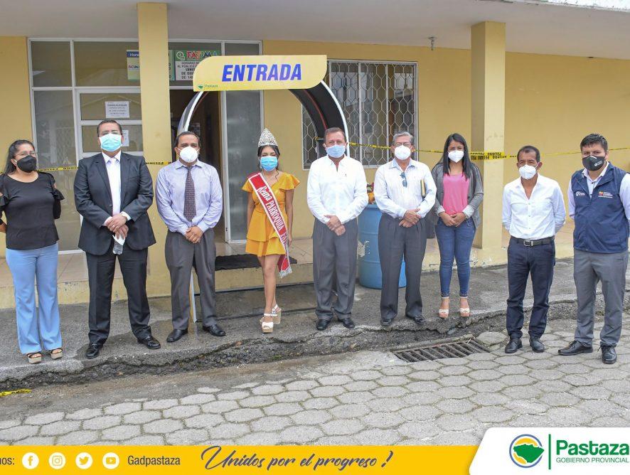 La Prefectura de Pastaza entregó un túnel de desinfección al GADPR Fátima.