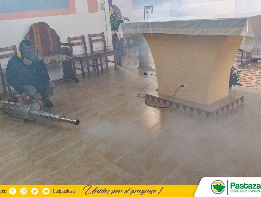 Infraestructuras estatales de Fátima fueron desinfectadas.