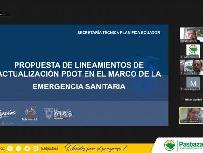 Prefectura de Pastaza trabaja en la actualización del PDOT en el marco de la Emergencia Sanitaria.
