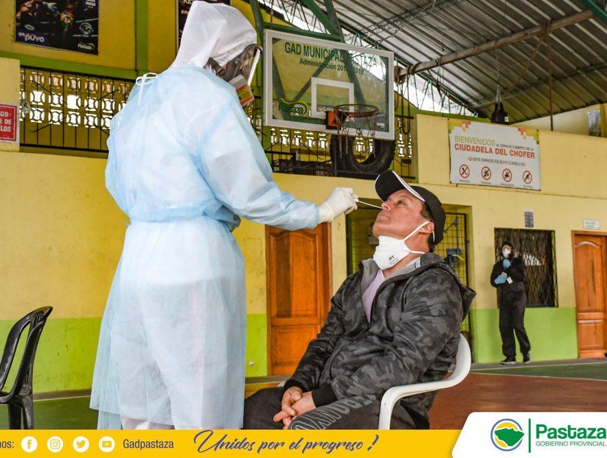 Pruebas PCR se tomaron a personal de la Prefectura de Pastaza que se encuentran laborando en los diferentes frentes en esta emergencia sanitaria.