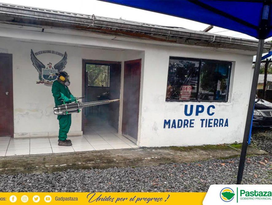 Trabajos de desinfección se realiza en la parroquia Madre Tierra.