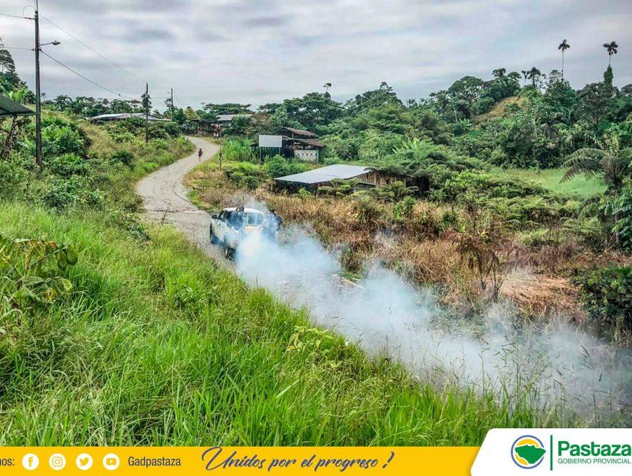Desinfección preventiva se realizó en San Pablo de Alishungo y Llandia.