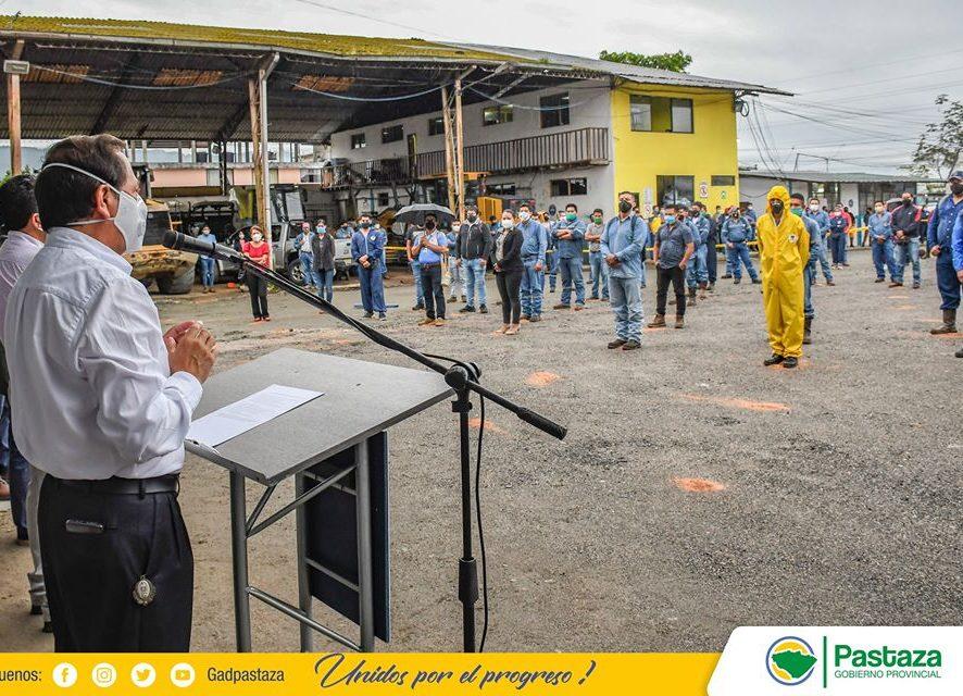 Minuto Cívico Institucional se instaura en Prefectura de Pastaza desde este lunes