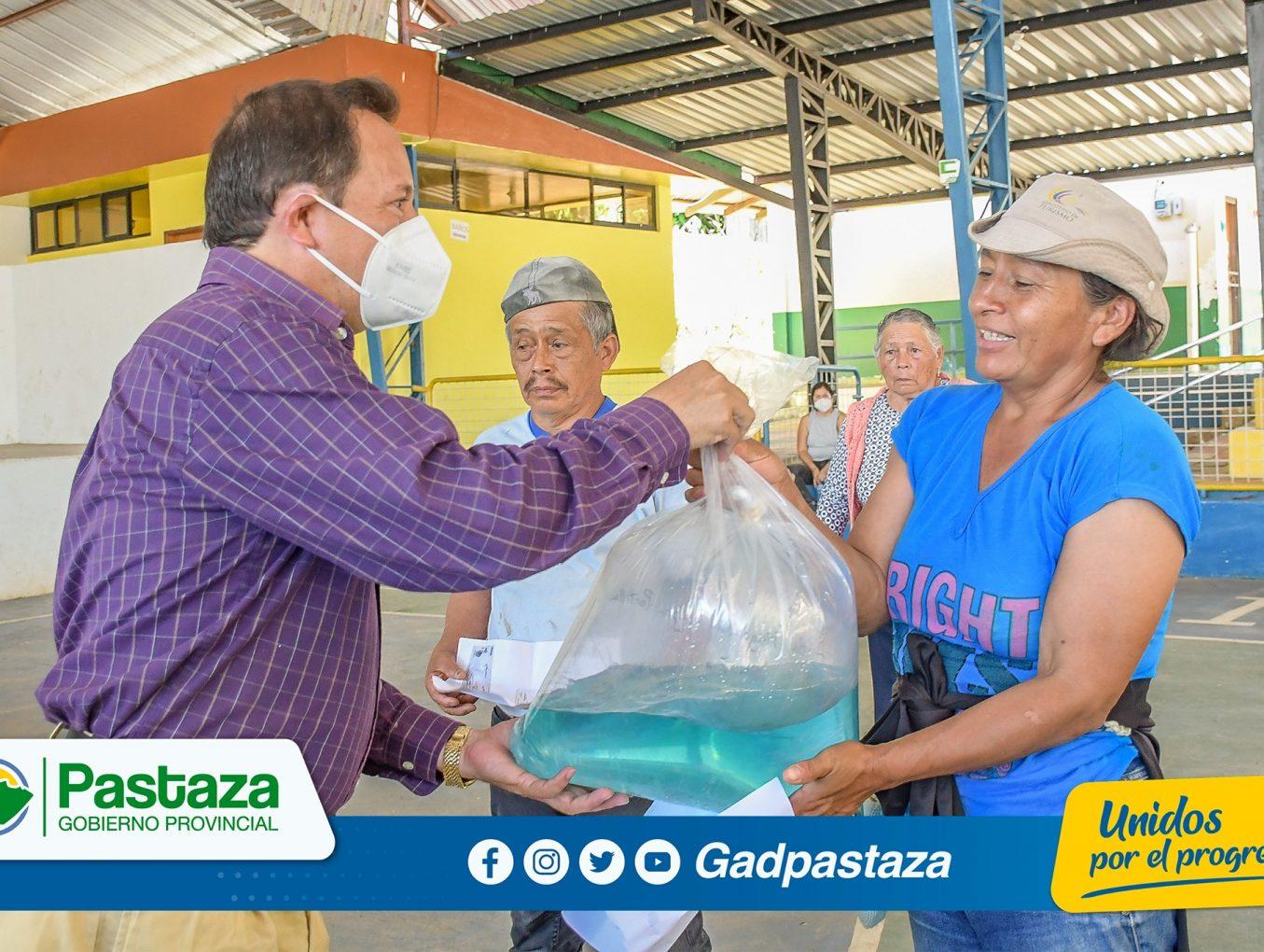 Más de 50 mil alevines se entregó a piscicultores de Tnt. Hugo Ortiz