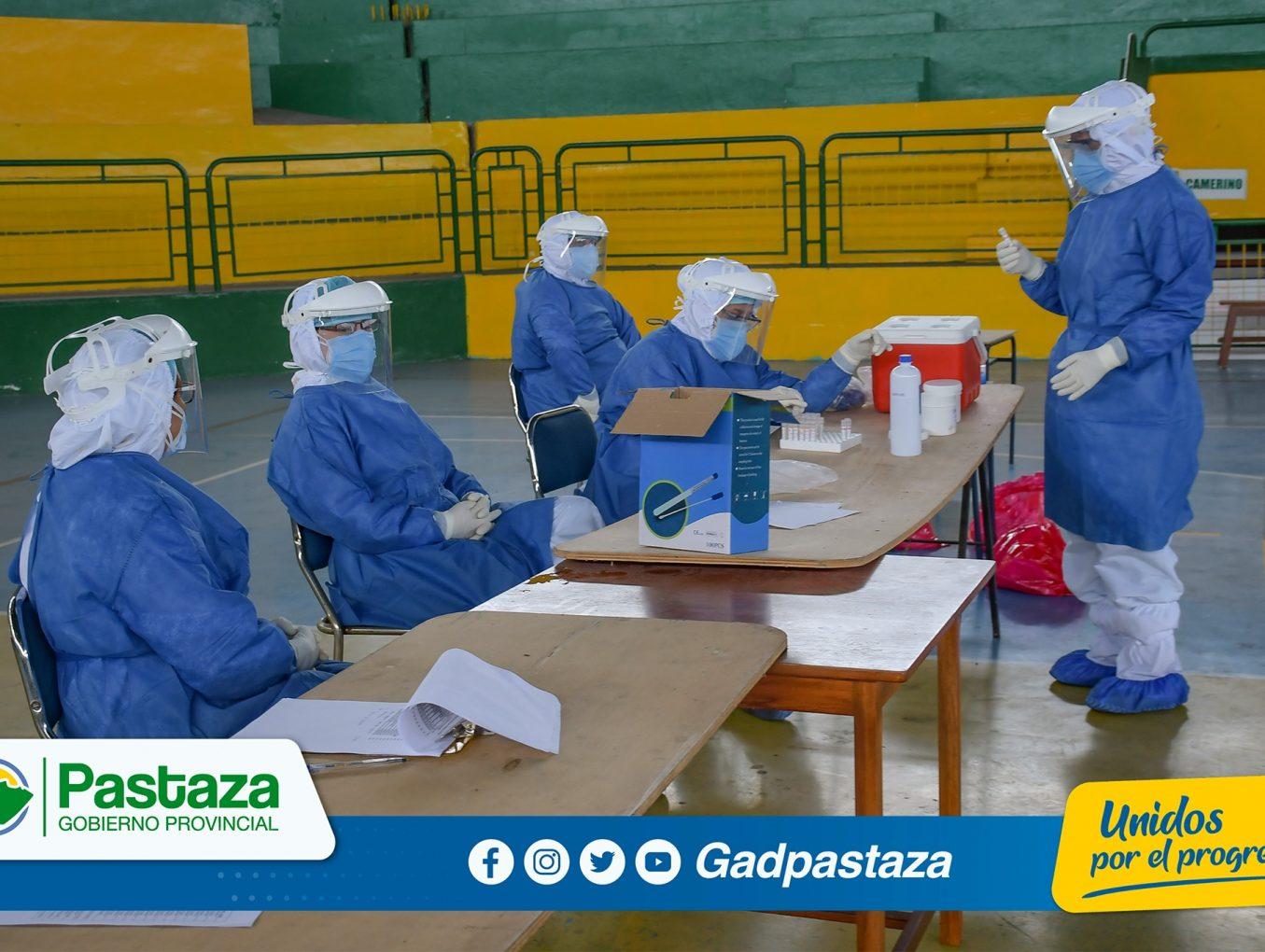 ¡110 pruebas PCR se tomó a trabajadores y empleados de la Prefectura de Pastaza!