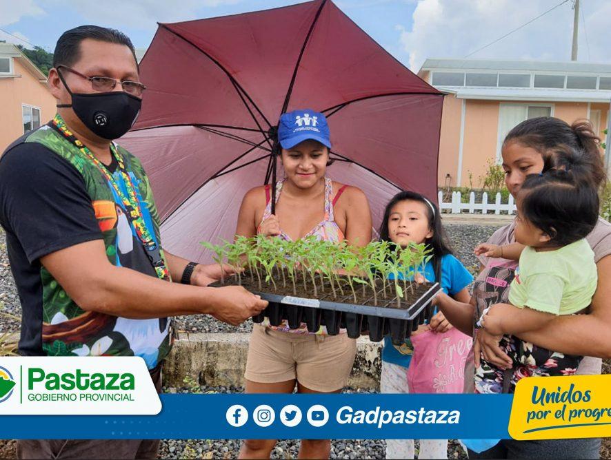 62 familias de Santa Clara se beneficiaron de la entrega de hortalizas