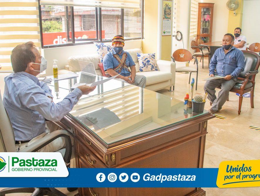Dirigentes de Kumay y Chapintza reconocen el trabajo de la Prefectura