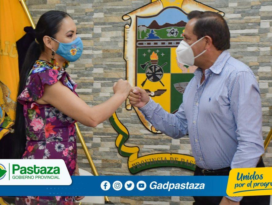 ¡Prefecto recibió en su despacho a Presidenta del Consejo Nacional Electoral del Ecuador quien realizó visita protocolaria!