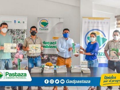 ¡Prefectura de Pastaza recibió material educativo ecológico por parte de PROAmazonía!
