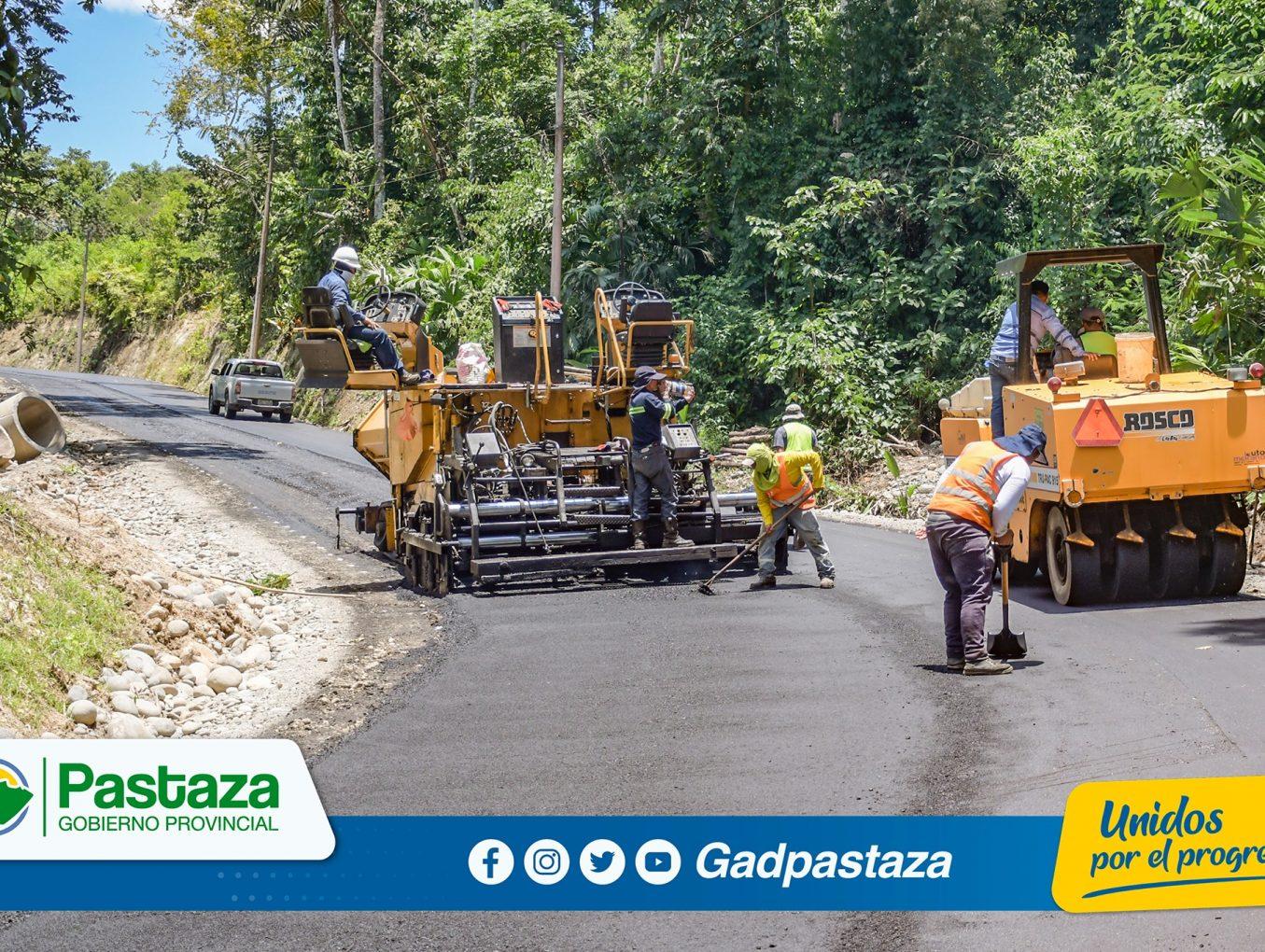 ¡Asfaltamos ramales de la vía  Arajuno-Shiwacocha para impulsar la agricultura  del sector !