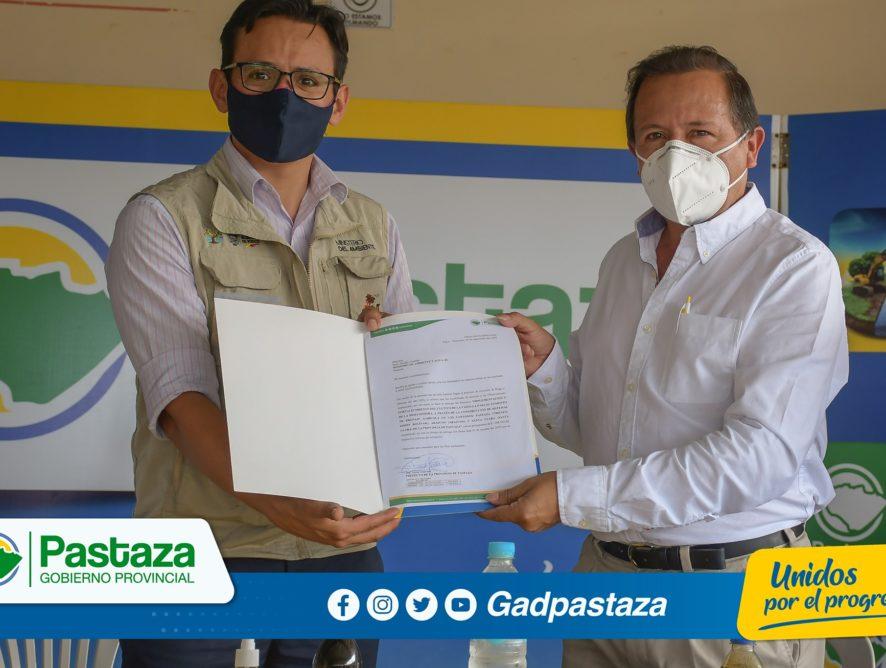 ¡En Santa Clara, se realizó acto de cierre de proyecto entre la Prefectura de Pastaza y el MAAE!