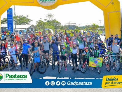 ¡En la Cicloruta Puyo-Shell, se sumaron más familias para disfrutar de esta aventura!