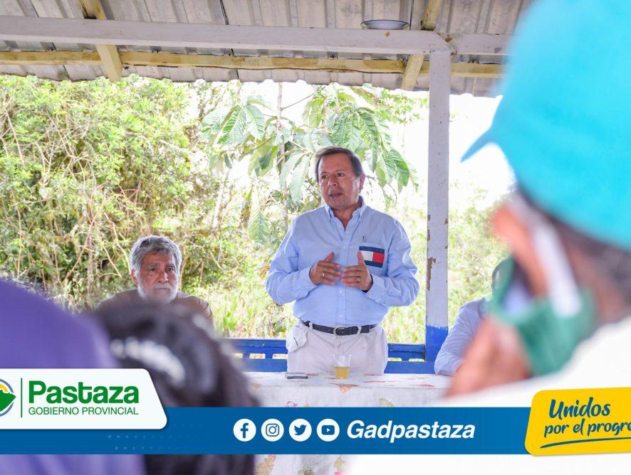 ¡El apoyo al sector rural es prioridad para el Prefecto de Pastaza!