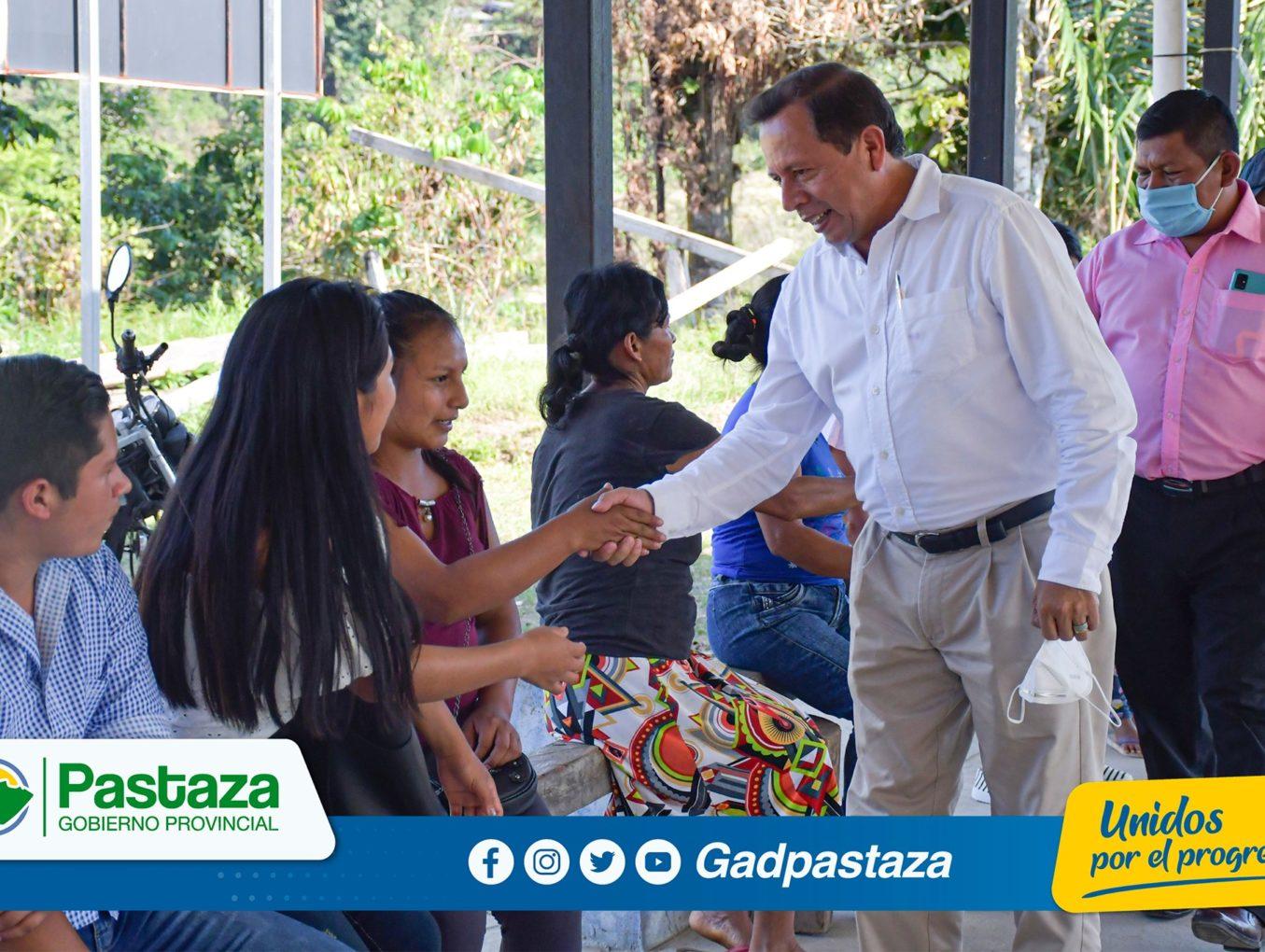 ¡Prefecto visitó la comunidad Chico Copataza!